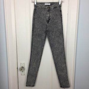 American Apparel High Waisted Acid Wash Jeans